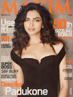 dips Maxims Cover Girl: Deepika Padukone