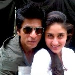 SRK and kareena while shooting for Ra.one