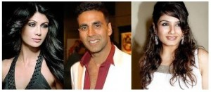 akshay raveena shilpa 300x131 Top 10 Controversial Bollwood Breakups – Romances that didn't make it