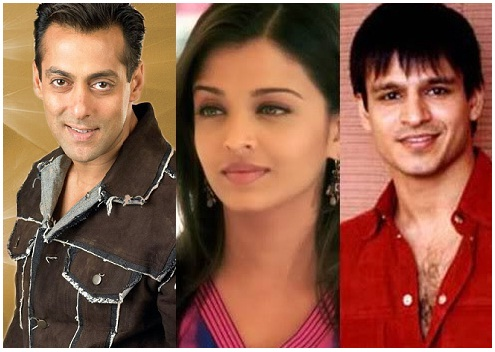 salmaan aish vivek Top 10 Controversial Bollwood Breakups – Romances that didn't make it