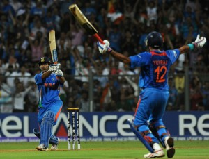 Dhonis helicopter shot 300x229 The World Cup Final Was Like a Bollywood Film   Go INDIA GO!