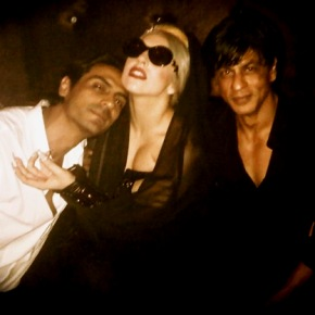 Lady Gaga Shah Rukh Arjun Rampal1 Lady Gaga and her Bollywood Jaunt   Can She Make it Big In India?