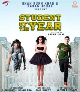 student of the year movie 2012 261x300 Student of the Year   A Karan Johar and Shahrukh Khan Production in 2012